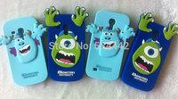 1PCS S3 Mini S4 mini Cartoon Animal Case Monsters University Silicone Cover Case for Samsung Galaxy S3 Mini S4 mini i8190 i9190