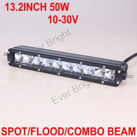 Free DHL/FEDEX Shipping!! New Arrival 4Pieces/lot 13.2INCH 5W*10 50W Spot Flood Combo LED LIGHT BAR Outdoor Lighting IP67