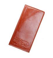2014 New Fashion Oil Leather Men's Wallet Long Design Genuine Leather Wallet Men Purse Credit Card holder High Quality