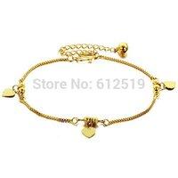 LoveJewelry Jewelry Adjustable Women's Anklet Heart Pendants Foot Chain