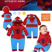 2014 children's spring and autumn clothing baby boy fashion style cartoon anime figure long-sleeve romper batman baby