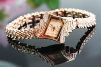 Ms rose gold fashion design business diamond bracelet watch