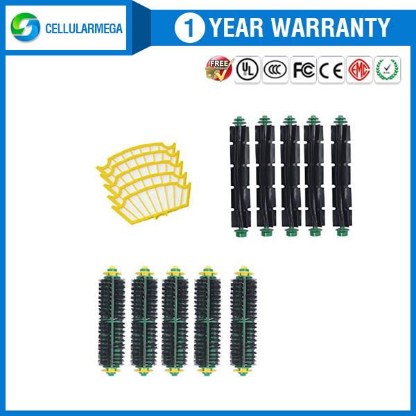 5 Pack Filter,bristle Brush and Flexible Beater Brush kit for Irobot Roomba 530 532 535(China (Mainland))