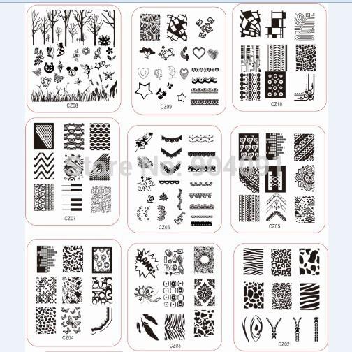 2014 NEW ARRIVAL RETAIL Stamp nail art Stamping Image Plate Print Nail Art Template DIY FOR nail art(China (Mainland))