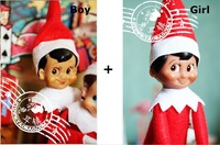 The Elf On The Shelf Plush Toys Action Figure Bonbon Box Collection Vintage Classic Christmas Doll 2 pcs/set SHD-1091