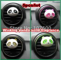 5pcs New Arrivals Panda Air Vent Perfume Balm Auto Perfume Car Air conditioning vent Freshener Air conditioning vent Fragrance