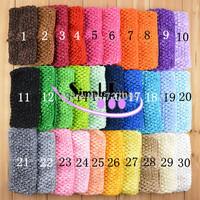 7cm Crochet headband Solid Color Baby headband Mix Color 100pcs/lot