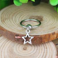 BN0017510PCS/Lot Free Shiping cheap vintage alloy pendant star nipple ring