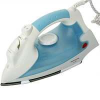 Vertical Steam Iron for clothes Teflon backplane 1100W handy Garment Steamer continuous steam output mini two gear blue safety