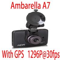 Big promotion original DX310L Ambarella A7 chipset Car Camera Recorder FHD1080P with GPS +3.0inch TFT Car black box dash cam dvr