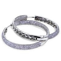 New arrival female wedding accessories fashion zircon platinum earrings