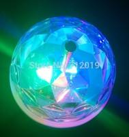 With USB plug DC5V Rotating RGB LED Lamp bulb for party Disco DJ Lighting Auto multi led rotating light