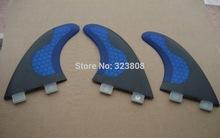 free shipping blue surfboard fins/fcs fins/fiberglass/carbon fins/(China (Mainland))