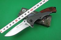 STRIDER B46 Full Steel + Wood handle Folding Pocket Knife Camping Outdoor Knives 3Cr13 57HRC Mirror Light Blade Dropshipping