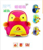 Grade 20141-3 Little Penguin QQ cartoon double bag backpack children school bag