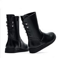 Back  Lace-Up Platform Martin Fashion Bota Women Motorcycle Boots Genuine Leather Ankle Boots
