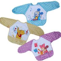 Free Shipping 2pcs/set Cute Cartoon Children Baby Waterproof Long Sleeve Bib Apron for baby self feeding Brand New