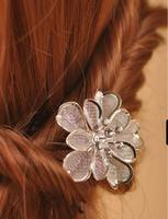 2014 Cheap Hand Made Girls Vintage Hair Accessories Little Flower Bridal Wedding Hair Pins
