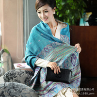 Wholesale 2014 new cotton scarves large ethnic bohemian longer warm shawl