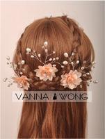 2014 Cheap Hand Made Girls Vintage Hair Accessories Twigs Women Beads Bridal Wedding Hair Pins