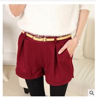 Korean Shorts Women 2014 Autumn Winter Casual Solid Cotton Cloth Shorts Super Boots Female Fitness Elastic Shorts