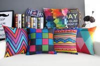 Beautiful model room Cushion Cover upscale exotic color Decorative Throw Pillows geometric Sofa Cushion Cover wholesale