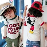 2014 summer cartoon children clothing baby child short-sleeve T-shirt boys girls casual t-shirts child tops at retail