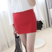 2014 Spring and Summer Korean Candy Colors Stretch Women A Line Skirt Ladies Package Hip Bust Skirt A511 Wholesale