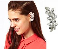 Fashion Wedding Jewelry Retro Crystal Flower Ear Cuff Earring Wrap Clip Jewelry free shipping