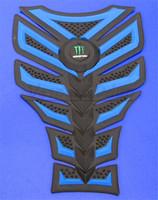 Free shipping For YAMAHA HONDA SUZUKI BMW KAWASAKI 3D Decal Sticker Motorcycle Polyester Resin Rubber Tank Pad Protector Blue
