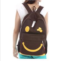 New Korean Women fashion school bag student backpack bags factory wholesale smiley Canvas shoulder bag PL317#23