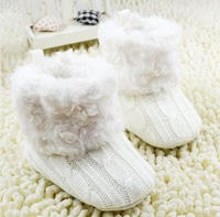 Winter Infant Boots Fur Thicken Warm Baby Snow Boots Toddler Boy Girl First Walker Shoes 0-24M Babies Soft Bottom Shoes WD44
