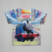 New 2015 Arrival Thomas boys' T-shirts Boys Top & Tees Children T shirts cartoon Kids Clothes Summer free shipping T071