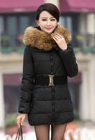 2014 New Women Plus size Parkas 5 color With Fur Collar Down coat free shipping