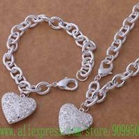 AS390 925 sterling silver Jewelry Sets bracelet necklace /axaajoha bisajzza