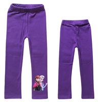 1pcs Spring/Autumn Baby Girl Leggings Frozen Legging Cotton  Kids frozen elsa trousers costume kids baby brand clothing P47