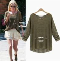 2014 new autumn Hollow out Chiffon shirt  Bottoming shirt women clothing Free shipping