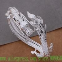 AB138 925 sterling silver bangle bracelet, 925 silver fashion jewelry dragon /aolajfsa dsoamjva