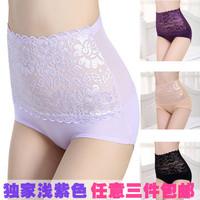 Girls panties sexy lace high waist panty drawing abdomen body shaping pants bamboo fibre beads