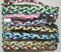 2000pcs titanium necklace X45 3 ropes braided necklaces,Germanium&Titanium necklaces