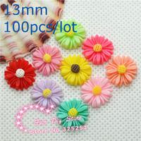 resin flat back dasiy flower 13mm 100pcs/lot 9 color flat back cabochon for decoration