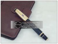 14k Gold Boheme Series Luxurious Brand Fountain Pen with Austria Diamond, Round Dot Pattern Style