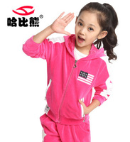 hot selling 2014 in spring and autumn children suit the new trend of small men and women wear autumn suit girl boy cotton suit