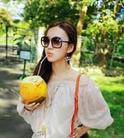 2014 hot classic sunglasses anti uv 400 women's myopia sunglasses brand designer fashion ivory sunglasses
