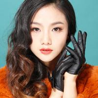 Women's leather gloves bow gloves women's fashion sheepskin gloves  genuine leather gloves