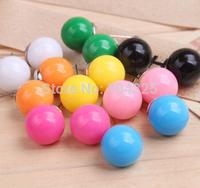 50pair / lot Random colors ! Lovely  Colors candy earrings ball earrings Wholesales Fashion Cheap Cute Candy Ball Stud Earrings