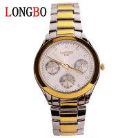 LONGBO brand Authentic high-grade Business men watch Quartz GENEVA watch of wrist of waterproof strip 8380