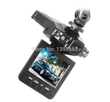 "2.5"" LCD Screen 6 IR LED Night Vision Car Dvr 720P Car Styling Video Camera Recorder 270 Angle Rotation HD Free Shipping DHL EMS(China (Mainland))"