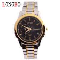 LONGBO brand Men 's fashion business quartz watch high-grade dial noctilucent waterproof strip wrist watch 8562