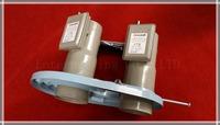 Dual Satellite LNB Bracket anDual LNB, LNB Holder for prime focus antenna, 10 Degree C Band Dual LNB Bracket, Free Shipping